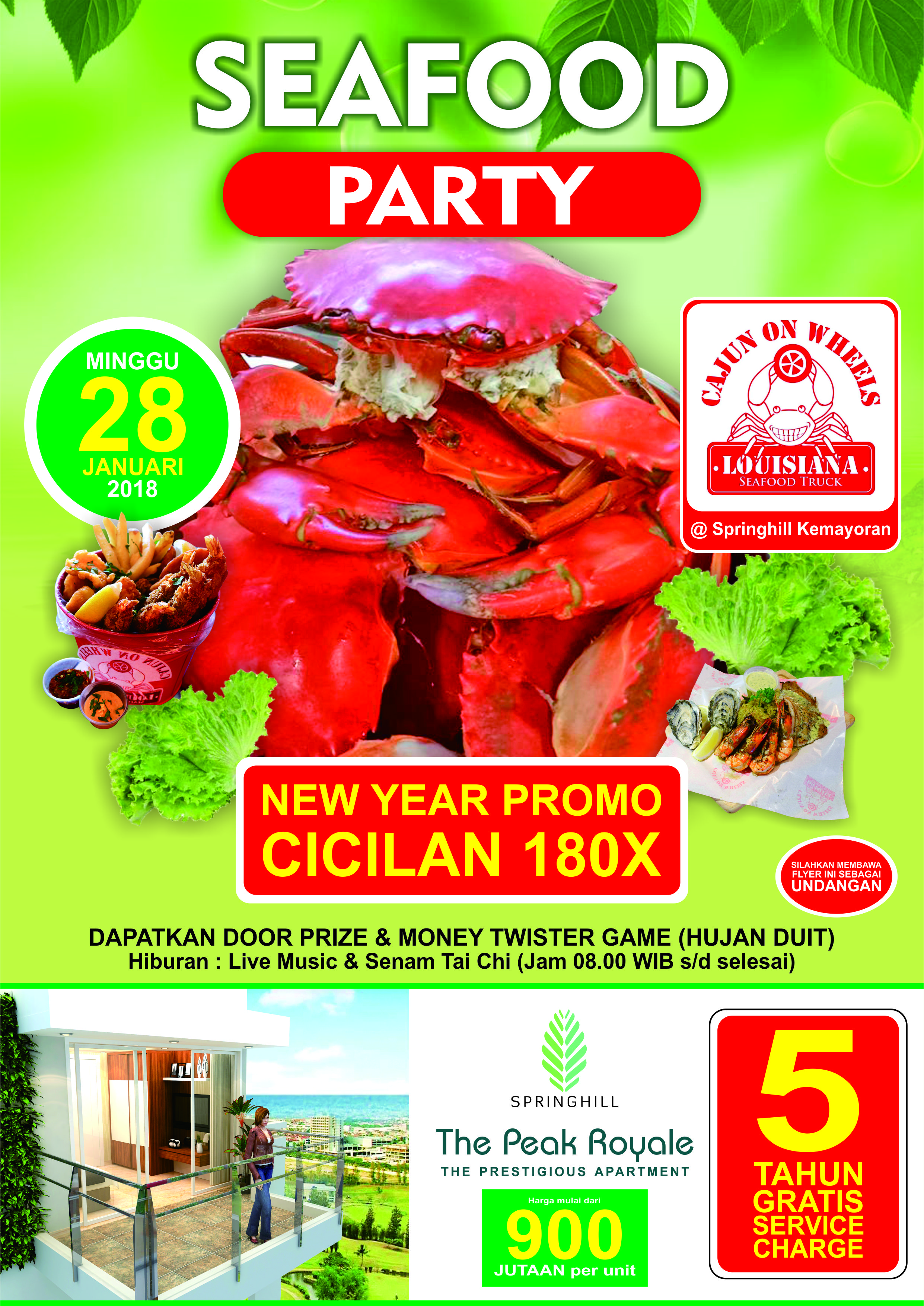 Seafood Party by Cajun on Wheels @Springhill Kemayoran
