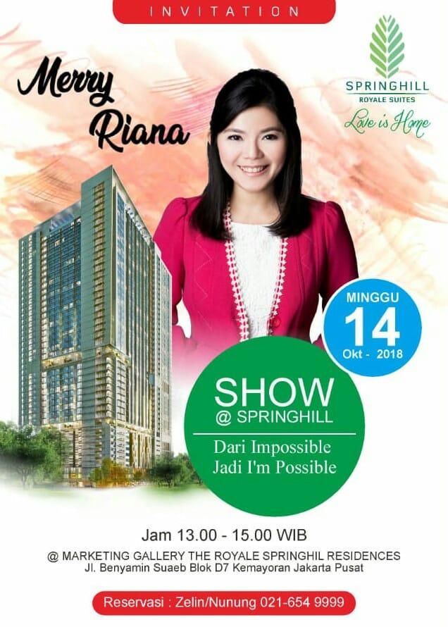 Merry Riana Talkshow @Springhill