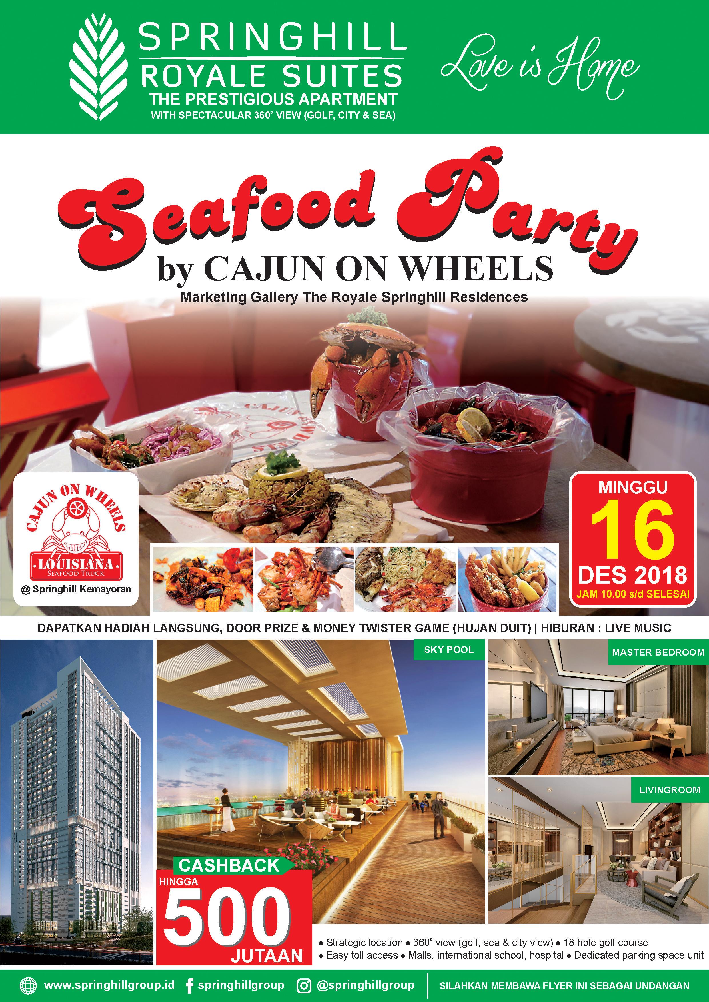 Pesta Seafood oleh Cajun on Wheels