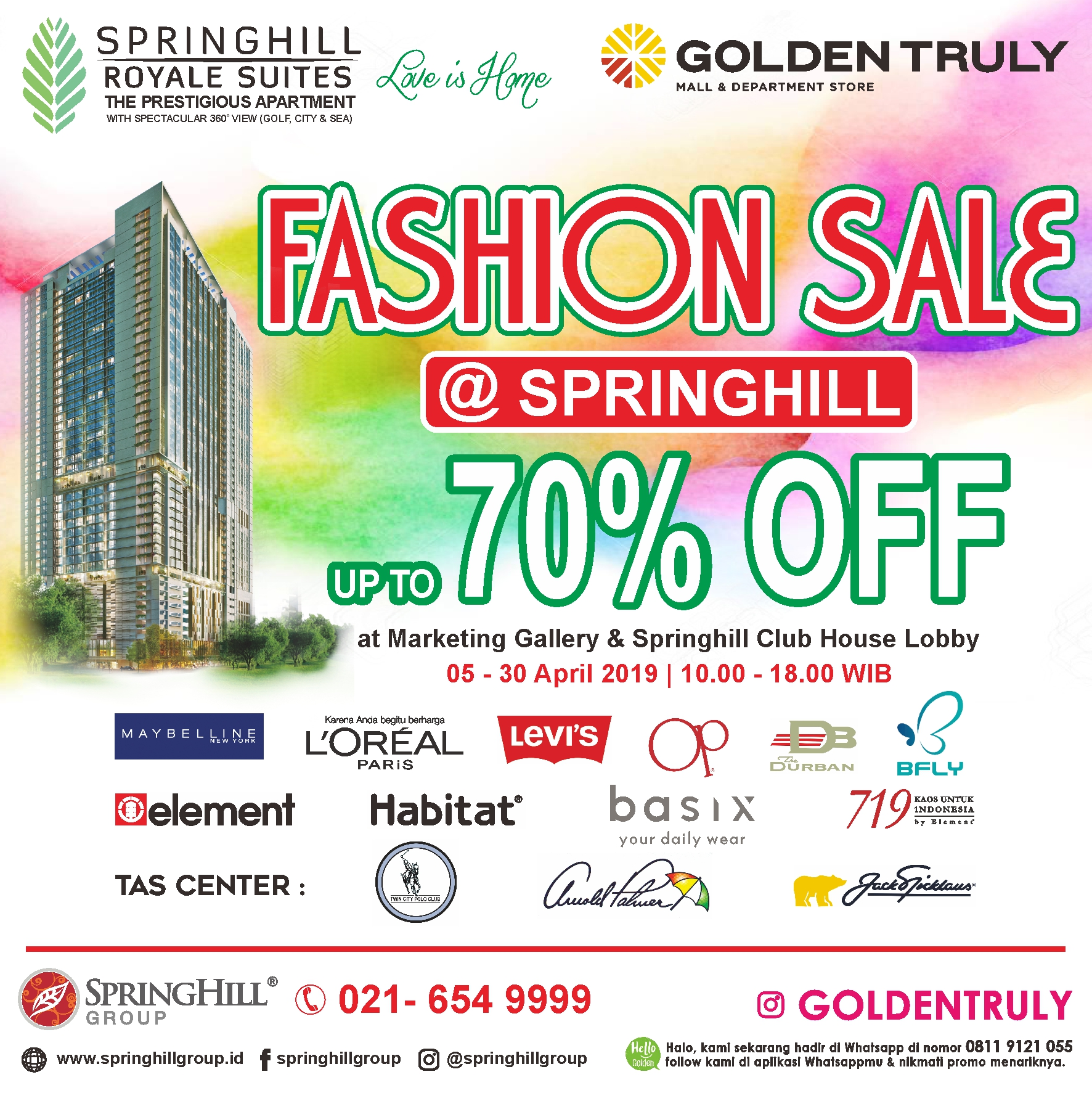 Golden Truly Fashion Sale at Springhill